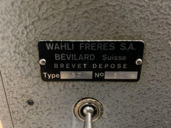 CHARGEUR AUTOMATIQUE WAHLI TYPE W-37